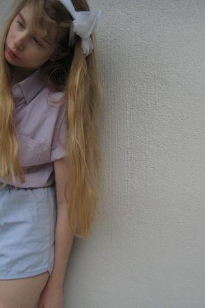 white American Apparel accessories - purple American Apparel shirt - blue Americ