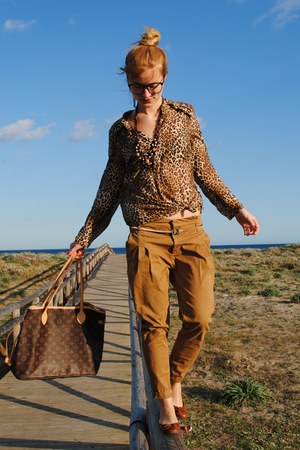 Zara shirt - H&M shoes - Louis Vuitton bag - Zara pants