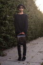 Black-oversized-acne-sweater