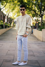 White-plimsolls-boohoo-shoes-off-white-knitted-boohoo-sweater