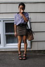 Purple-urban-outfittersoutfitters-blouse-green-forever-21-skirt-black-balenc