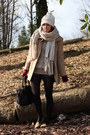 Vintage-coat-h-m-hat-bershka-scarf-forever-21-loafers