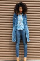 Target jeans - thrift jacket - H&M blouse - Shoe Dazzle heels