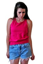 &#x27;80s Hot Pink Athletic Tank, sz SMALL