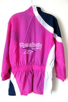 Vintage Reebok Fuchsia Pink Neoprene Jogging Jacket, XL