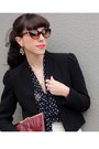Black-piperlime-blouse-maroon-vintage-bag-brown-tres-noir-sunglasses