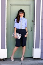periwinkle banana republic tie - blue banana republic shirt - violet H&M bag