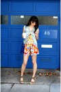 Silver-ray-ban-sunglasses-red-lamade-romper-olive-green-steve-madden-wedges