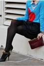 Black-chinese-laundry-heels-blue-target-sweater-black-zara-skirt