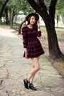 Black-ballasox-boots-ruby-red-red-plaid-tb-dress-dress-black-romwe-hat