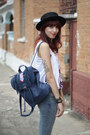 Dog-wear-ever-shirt-c-a-jeans-romwe-hat-fringe-chicwish-bag