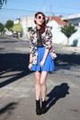 Black-oasap-boots-navy-floral-print-chicwish-blazer
