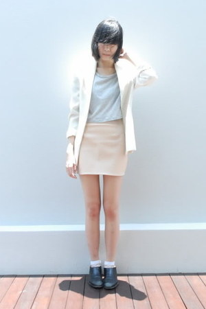 nude The Scarlet Room skirt - black Comme des Garcons shoes