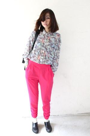 balenciaga bag - Comme des Garcons flats - Primark pants - American Apparel top