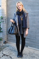 black Alexander Wang purse - gray Witchery jacket - gray H&M scarf - black Conve
