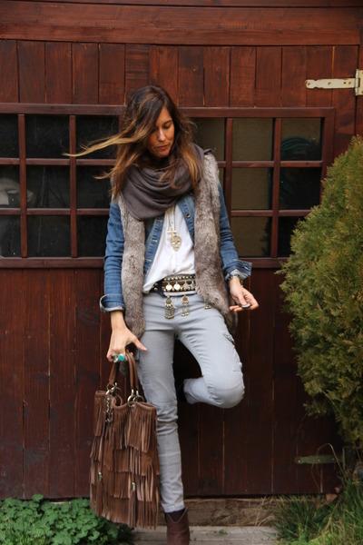 jacket - bag - vest