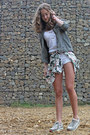 Dark-green-zara-jacket-white-lace-zara-shorts-white-crochet-gilly-hicks-top