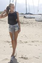 black Zara top