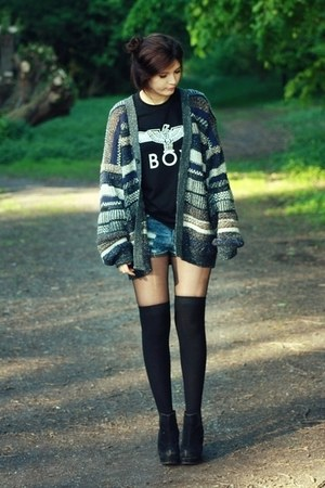 BOY LONDON from oasap shirt - Primark shorts - Urban Outfitters cardigan