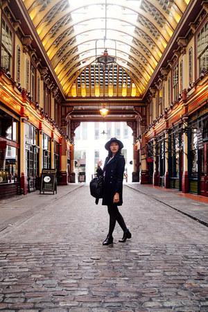 Zara boots - H&M coat - Primark leggings - Zara bag