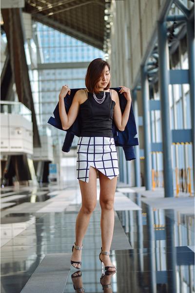 Finders Keepers skirt - Finders Keepers blazer - Asto Group top - Pazzion heels
