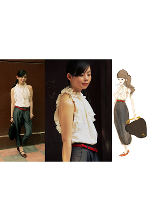 pants - blouse - accessories - Anne Valrie Hash belt