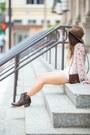 Dark-brown-ankle-boots-ariat-boots-dark-brown-fedora-revolve-clothing-hat