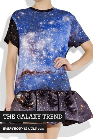 blue galaxy Christopher Kane dress