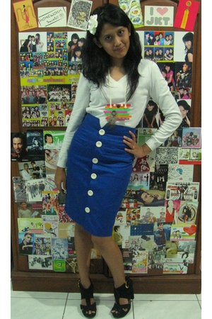 white - white - blue Mitchybelle skirt - black Retail Therapy shoes -