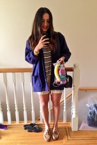 vintage coat - Urban Outfitters shirt - Old Navy shorts