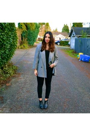 Rachel Comey boots - vintage blazer - Aritzia pants