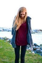 thrifted sweater - Zara shirt