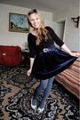 Black-atmosphere-shirt-blue-global-skirt-gray-seppl-tights-white-coolgirl-