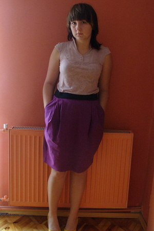 pink reserved blouse - purple Vero Moda skirt