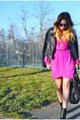 Black-leather-steve-madden-boots-hot-pink-nasty-gal-dress