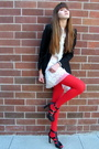Black-express-blazer-white-eli-tahari-dress-red-we-love-colors-tights-blac