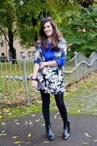 black leather Daniel Footwear boots - blue Very shirt - black clutch next bag