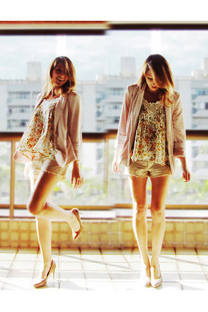 light pink Renner blazer - cream Emme shorts - light yellow Emme blouse