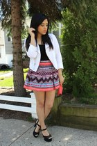 H&M skirt - furor moda jacket - Mandee heels - garage top