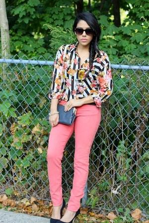 Sheinside blouse - H&M jeans - CharliebyMZ pumps