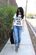 boyfriend jeans H&M jeans - H&M bag - The Way We Are t-shirt