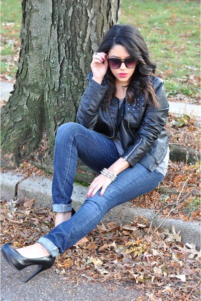 Mandee jacket - Forever21 jeans - H&M shirt - Mandee heels