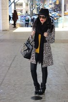 OASAP coat - Forever 21 boots - H&M hat - H&M leggings