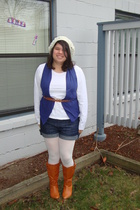 shirt - vest - shorts - tights - boots - belt