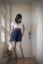 Old Navy shirt - vintage shorts - belt - shoes - CMG accessories