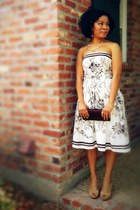 off white strapless ann taylor dress