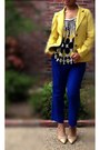 Yellow-cotton-blazer-old-navy-blazer-blue-asos-pants