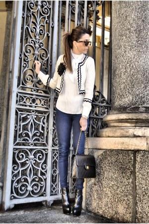 Mango jacket - Zara leggings - Zara shirt - asos shoes