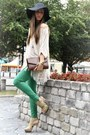 Chartreuse-zara-pants