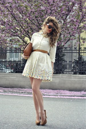 Bershka shoes - eggshell asos dress